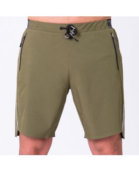 Essential 9 inch Shorts for Men in Olive | Gym Aesthetics