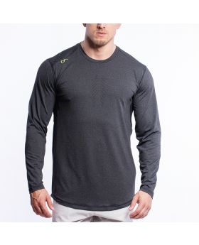 Performance Loose-Fit T-Shirt für Herren in Melange Holzkohle - preview