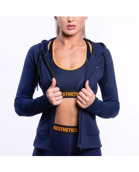 Gym Aesthetics | Performance Hoodie Jacket for Women in Navy - preview