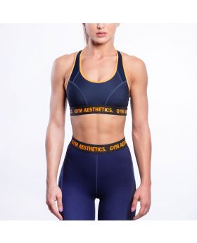 Gym Aesthetics | Performance Multiplied Sports Bra for Women in Navy - previw