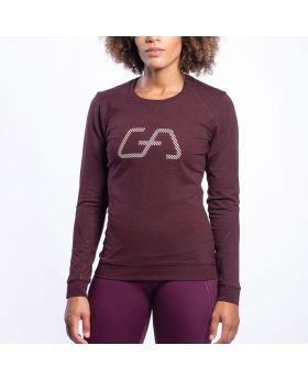 Gym Aesthetics | Training Loose-Fit T-Shirt für Damen in Melange Burgund - preview