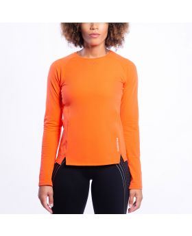 Gym Aesthetics | Performance Tight-Fit T-Shirt für Damen in Orange - preview