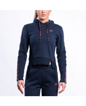 Gym Aesthetics | Training Hoodie for Women in Navy - previw
