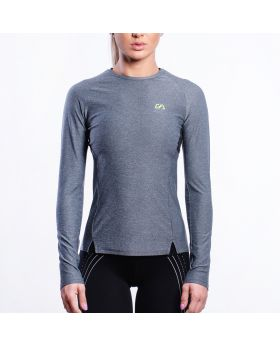 Performance Tight-Fit T-Shirt für Damen in Melange Grau - preview
