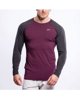 Ausbildung Tight-Fit T-Shirt für Herren in Burgund - preview