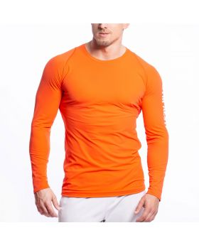 Gym Aesthetics | Performance Tight-Fit T-Shirt für Herren in Orange - preview