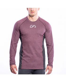 Gym Aesthetics | Training Loose-Fit T-Shirt für Herren in Melange Burgund - preview