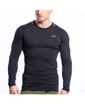 Gym Aesthetics | Performance Gym Tight-Fit T-Shirt für Herren in Schwarz - preview