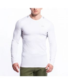 Gym Aesthetics | Performance Gym Tight-Fit T-Shirt für Herren in Weiß - preview