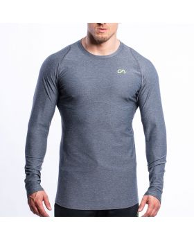 Performance Tight-Fit T-Shirt für Herren in Melange Grau - preview