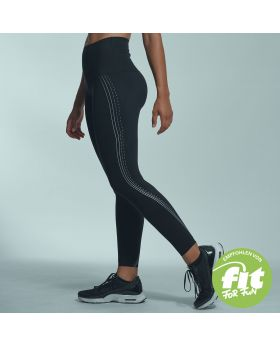 Gym Aesthetics | High-Waist Supportive Compression Leggings for Women in Black - previw