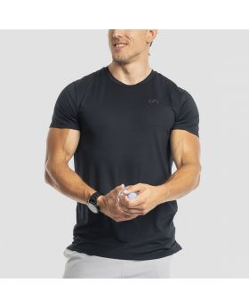 Gym Aesthetics | Basic Loose-Fit T-Shirt 'Intensity' for Men in Black - previw