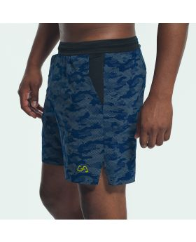 Gym Aesthetics | Sport Shorts for Men in Navy with Reflective Print - preview