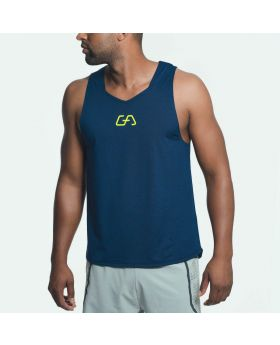 Gym Aesthetics | Workout Tank Top 'Intensive' for Men in Melange Navy - preview