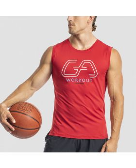 Workout Tank Top 'Intensity' für Herren in Rot - preview