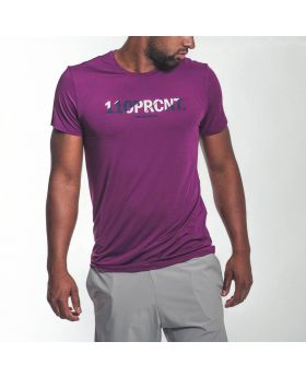 Gym Aesthetics | Workout 'Intensity' Men Loose Fit Tee in Purple - previw