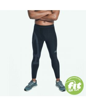 Gym Aesthetics | Supportive Compression Leggings for men in black - previw