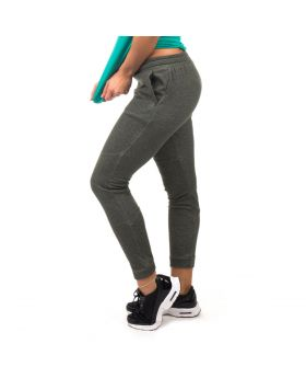 "Skinny sweatpants for womens ""Diversity"" in green"
