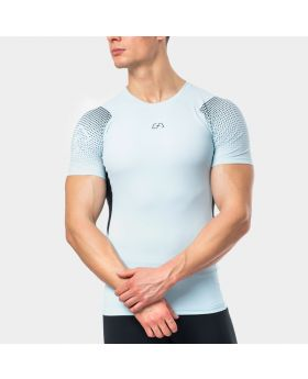 "Mens compression shirt ""HiTense"" in blue sky"