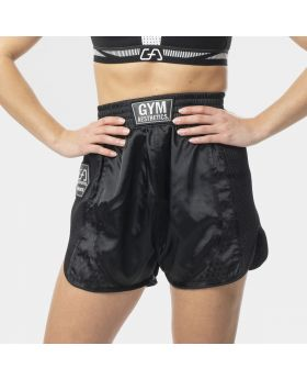 "Muay Thai shorts ""RAWSTRNGTH"" for women in black 