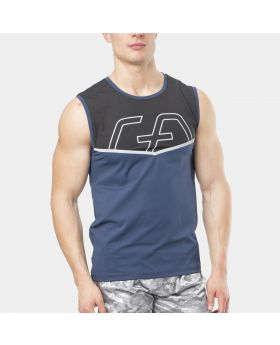"Muay Thai tank top ""RAWSTRNGTH"" for men in blue 
