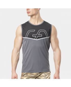 "Muay Thai tank top ""RAWSTRNGTH"" for men in grey 