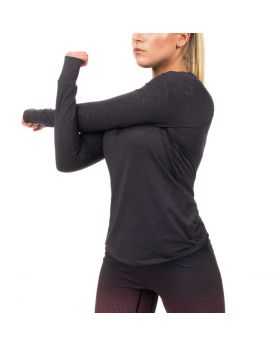 "Kompressionsshirt Damen ""Muscle Fit"" in Grau"