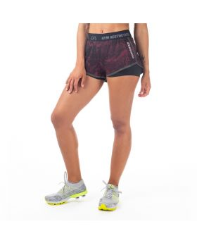 "Sport Shorts Damen ""Diversity 2.0"" 2-Layer in Rot"