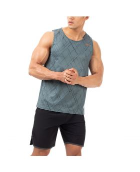 "Trainings Tank Top ""Grid"" für Herren in Grün"