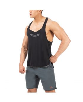 "Stringer Tank Top für Herren ""Powerful"" in schwarz"