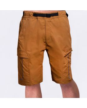 Funktion Cargo 9 inch Shorts für Herren in Khaki | Gym Aesthetics