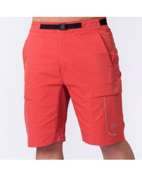 Funktion Cargo 9 inch Shorts für Herren in Sonnenrot | Gym Aesthetics
