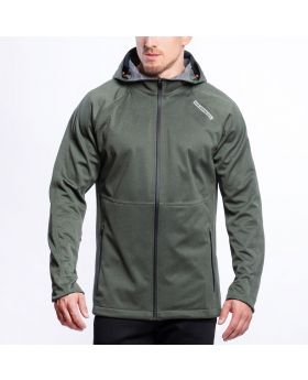 Gym Aesthetics | OutRun Funktionsjacke für Herren in Melange Olive - preview