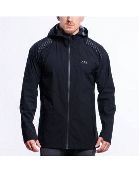 Gym Aesthetics | OutRun Regenjacke für Herren in Schwarz - preview